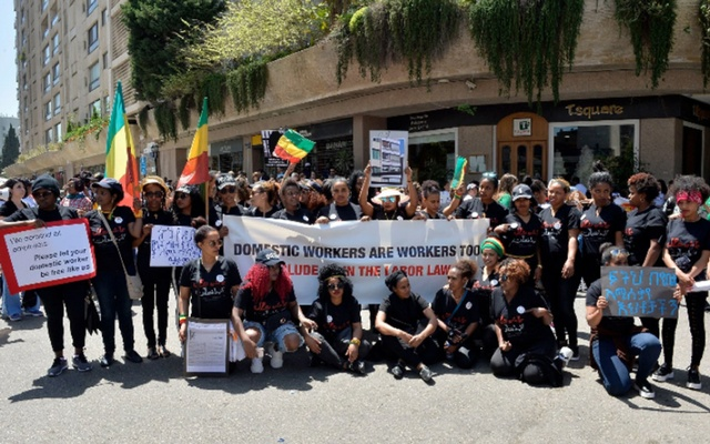 Protesting the mistreatment of domestic workers in Beirut. Shutterstock