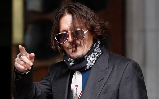 Actor Johnny Depp arrives at the High Court in London, Britain, Jul 8, 2020. REUTERS
