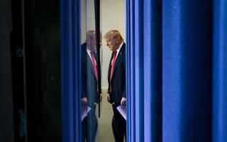 FILE -- President Donald Trump enters the White House briefing room in Washington, on Thursday, July 2, 2020. President Trump's abrupt travel ban for European visitors in March, which was made without consultation with European leaders and without any warning, established the climate for the current travel restrictions on the United States. (Doug Mills/The New York Times)