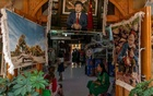 An image of Xi Jinping, China's leader, in a carpet store in Hotan, a town in Xinjiang in China's west, Aug. 3, 2019. Uighur exiles urged the International Criminal Court on Monday, July 6, 2020, to hold China's ruling Communist Party accountable for its crackdown on the Muslim minority. (Gilles Sabrie/The New York Times).