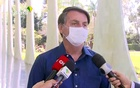 Brazil's President Jair Bolsonaro confirms positive coronavirus diagnosis as he speaks to the media in Brasilia, Brazil July 7, 2020. Brazilian Government TV via Reuters TV