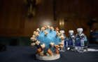 A model of SARS-CoV-2, known as the novel coronavirus, is seen ahead of a US Senate Appropriations subcommittee hearing on the plan to research, manufacture and distribute a coronavirus vaccine, known as