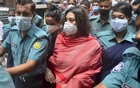 Dr Sabrina Sharmeen Husain arrives at Dhaka Metropolitan Magistrate Court on Monday following her arrest over her alleged ties to the COVID-19 testing scam involving JKG Health Care. She was later placed on a three-day remand by the court.