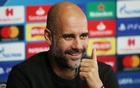 Manchester City manager Pep Guardiola during a press conference Action Images via Reuters
