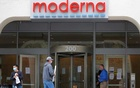 A sign marks the headquarters of Moderna Inc, which is developing a vaccine against the coronavirus disease (COVID-19), in Cambridge, Massachusetts, US, May 18, 2020. REUTERS