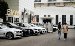 A Beijing BMW dealership on, Wednesday, April 15, 2020. The New York Times