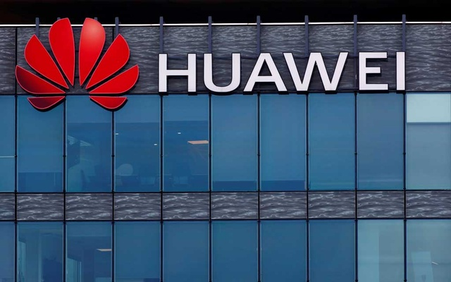 A view shows a Huawei logo at Huawei Technologies France headquarters in Boulogne-Billancourt near Paris, France, July 15, 2020. REUTERS
