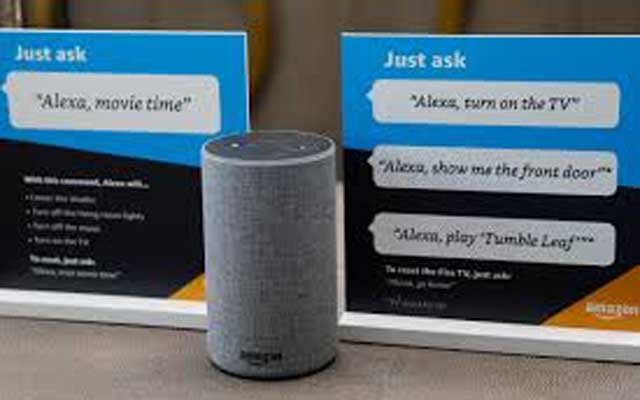 Prompts on how to use Amazon's Alexa personal assistant are seen in an Amazon 'experience centre' in Vallejo, California, US, May 8, 2018. REUTERS