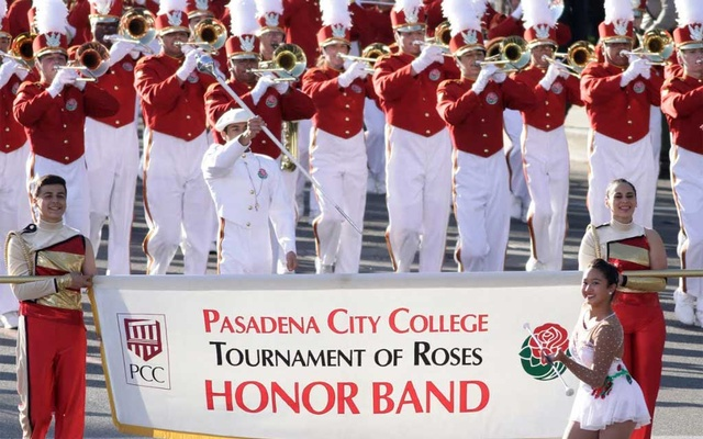 The Pasadena City College Tournament of Roses Honour Band marches in the 125th Rose Parade in Pasadena, California January 1, 2014. REUTERS