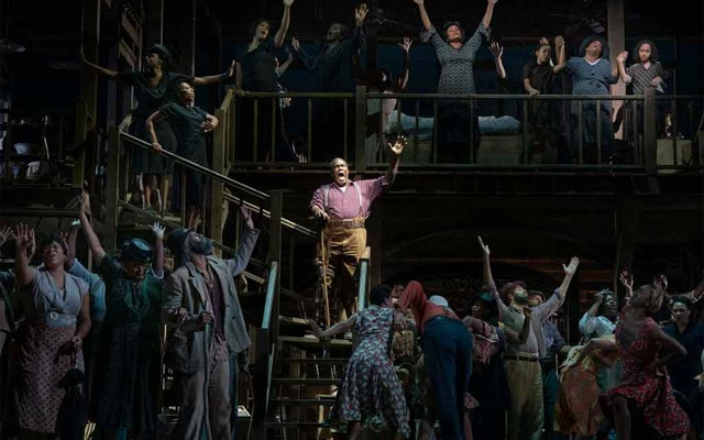 "Eric Owens, as Porgy, in ""Porgy and Bess,"" in New York, Sept 12, 2019. The New York Times"
