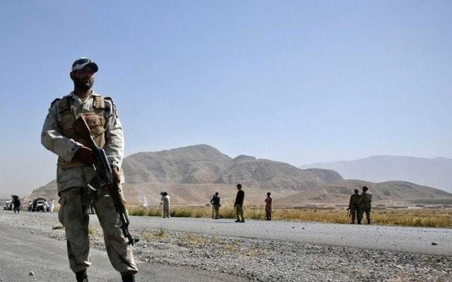 File photo of a soldier standing guard in Balochistan. PHOTO: REUTERS