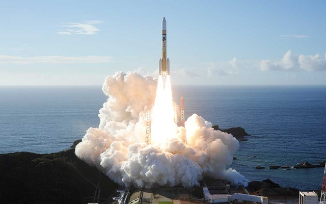An H-2A rocket carrying the Hope Probe, developed by the Mohammed Bin Rashid Space Centre (MBRSC) in the United Arab Emirates (UAE) for the Mars explore, lifts off from the launching pad at Tanegashima Space Center on the island of Tanegashima, Japan, in this handout photo taken and released on July 20, 2020 by Mitsubishi Heavy Industries. Mitsubishi Heavy Industries
