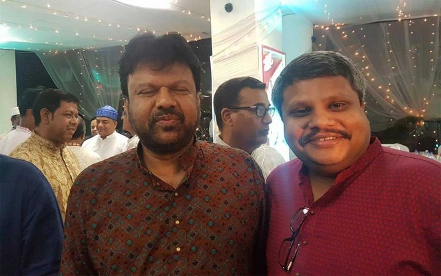 Shahed's selfie with Shyamal Dutta at Dhaka Metropolitan Police's Iftar party in 2017