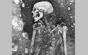 A photo from The Swedish National Heritage Board shows a 1,200-year-old smallpox-infected Viking skeleton found in Oland, Sweden. An extinct version of the smallpox virus dating to 1,400 years ago has prompted speculation about viruses becoming more lethal over time. (The Swedish National Heritage Board via The New York Times)