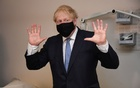 Britain's Prime Minister Boris Johnson visits the Tollgate Medical Centre in Beckton, London, Britain July 24, 2020. REUTERS