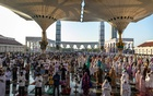 Indonesian Muslims offer Eid-ul-Azha prayers at the Great Mosque of Central Java, during the outbreak of the coronavirus disease (COVID-19) in Semarang, Central Java province, Indonesia, July 31, 2020. REUTERS