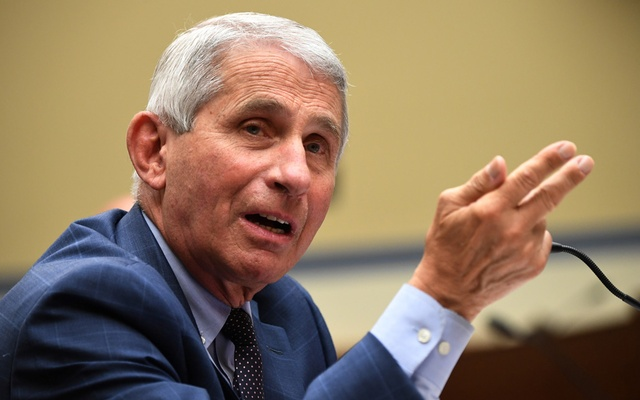 Dr Anthony Fauci, director of the National Institute for Allergy and Infectious Diseases, testifies during the House Select Subcommittee on the Coronavirus Crisis hearing in Washington, DC, US, July 31, 2020.  REUTERS