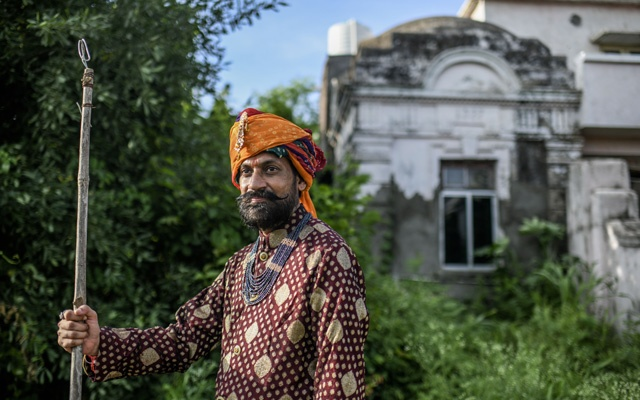 Prince Manvendra Singh Gohi, whose family dynasty goes back 600 years and once ruled the kingdom of Rajpipla, outside his home in Gujarat, India, July 28, 2020. Since coming out as gay in a 2006 interview, Prince Manvendra was disinherited for a time and even burned in effigy. But he has also earned global accolades for his LGBTQ advocacy. (Atul Loke/The New York Times).