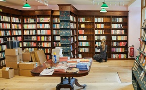 Books are shelved at a new Daunt Books outlet that is about to open in Summertown, a suburb of Oxford, England, July 22, 2020. (Suzie Howell/The New York Times)