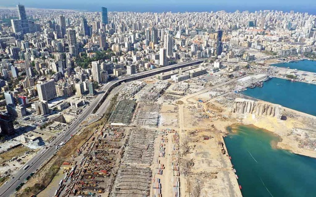 A general view shows the damage following Tuesday's blast in Beirut's port area, Lebanon, Aug 6, 2020. REUTERS