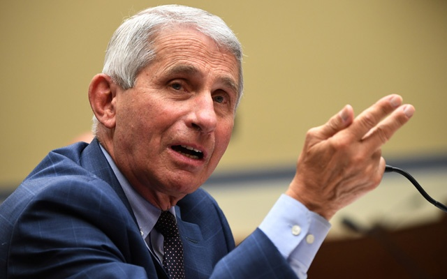 Dr Anthony Fauci, director of the National Institute for Allergy and Infectious Diseases, testifies during the House Select Subcommittee on the Coronavirus Crisis hearing in Washington, DC, US, July 31, 2020. Kevin Dietsch/Pool via REUTERS