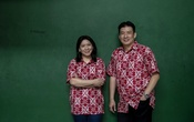 Susi Susanti, director of performance for the national team, and her husband Alan Budikusuma, who won the first and second, respectively, of Indonesia's seven Olympic gold medals for badminton, in Jakarta.