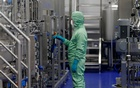 A technician works at a manufacturing facility of Chinese vaccine maker CanSino Biologics in Tianjin, China November 20, 2018. Reuters/Stringer