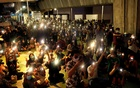 Thai anti-government protesters hold rallies outside Bangkok