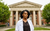 Dr Onyeka Otugo, an emergency physician, in Boston on Aug. 7, 2020. The New York Times