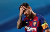 Barcelona's Lionel Messi looks dejected, as play resumes behind closed doors following the outbreak of the coronavirus disease (COVID-19). Football - Champions League - Quarter Final - FC Barcelona v Bayern Munich - Estadio da Luz, Lisbon, Portugal - August 14, 2020. Manu Fernandez/Pool via REUTERS