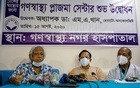 Dr Zafrullah Chowdhury speaks during the inauguration ceremony of a plasma centre at the Gonoshasthaya Nagar Hospital in Dhaka's Dhanmondi on Saturday. Photo: Mahmud Zaman Ovi