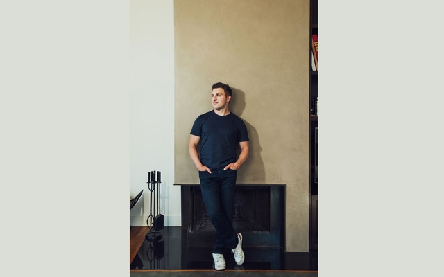 Airbnb CEO Brian Chesky at his home in San Francisco, Jun 8, 2020. The home rental company, which was privately valued at $31 billion, is trying to go public after its business was crushed by the pandemic. Jessica Chou/The New York Times