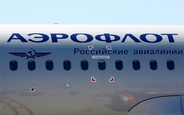 FILE PHOTO: The logo of Russia's flagship airline Aeroflot is seen on an Airbus A320 which landed after an inaugural trip at the Marseille-Provence airport in Marignane, France, June 1, 2019. REUTERS/Jean-Paul Pelissier/File Photo