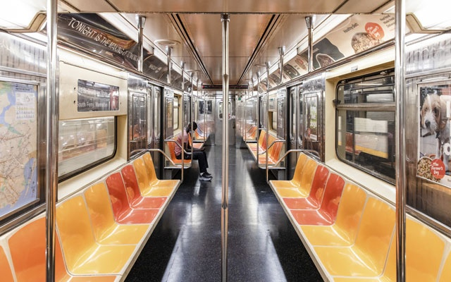 A nearly-empty subway car at midday in Manhattan, July 30, 2020. The New York Times