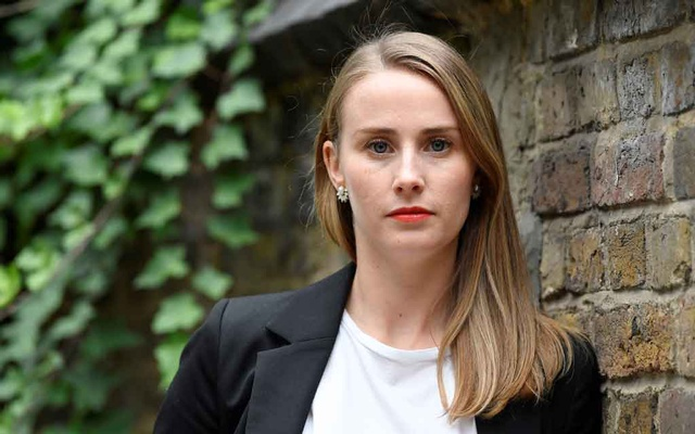 Freelance journalist Laura Walters is pictured near her home after speaking to Reuters about working unknowingly for a fake news outlet which Facebook says was part of a Russian disinformation campaign, in London, Britain, September 2, 2020. REUTERS