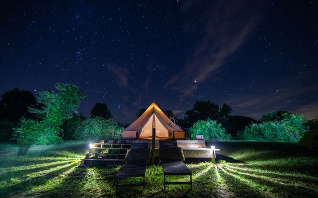 A glamping site at the Gatherwild Ranch in Germantown, NY, Aug 20, 2020. The New York Times