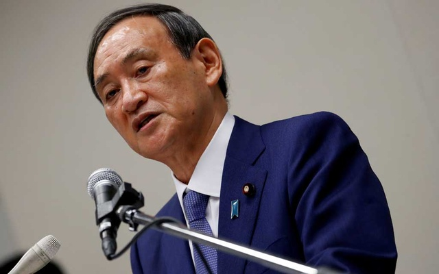 Yoshihide Suga, Japan's Chief Cabinet Secretary and ruling Liberal Democratic Party (LDP) lawmaker, speaks during a news conference to announce his candidacy for the party's leadership election, in Tokyo, Japan September 2, 2020. REUTERS