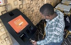 A bitcoin user buys bitcoins with naira on Bitcoin Teller Machine in Lagos, Nigeria September 1, 2020. REUTERS