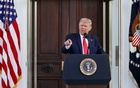 US President Donald Trump delivers remarks on Labor Day and answers questions from the press at the North Portico of the White House in Washington, US, September 7, 2020. Reuters