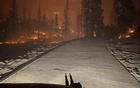 The view from a California National Guard helicopter rescuing stranded campers as a wildfire burned in the Sierra National Forest, Saturday, Sept 5, 2020. The New York Times