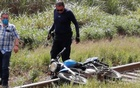A motorcycle is seen at the site where the body of journalist Julio Valdivia was found in Tezonapa, Veracruz, Mexico, September 9, 2020, in this image obtained via social media. Diario El Mundo via REUTERS