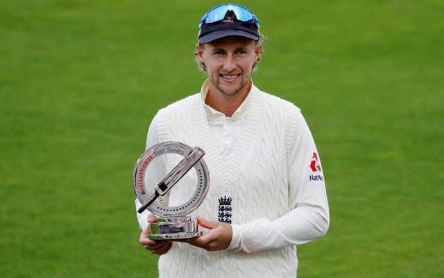 Third Test - England v Pakistan - Ageas Bowl, Southampton, Britain - August 25, 2020 England's Joe Root celebrates with a trophy after the match, as play resumes behind closed doors following the outbreak of the coronavirus disease (COVID-19) REUTERS