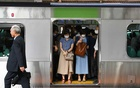 Commuters on train in the morning in Tokyo on Wednesday, Sept 9, 2020. Female workers remain largely shut out of management jobs in Japan, and many take part-time work because of overwhelming family responsibilities, despite policies that Prime Minister Shinzo Abe said would elevate their standing in society. (Noriko Hayashi/The New York Times)
