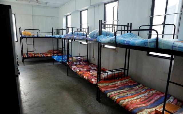 View of a dormitory room for migrant workers who have recovered from the coronavirus disease (COVID-19), amid the outbreak in Singapore May 15, 2020. REUTERS