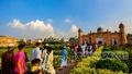 People thronged the Lalbagh Fort in Old Dhaka on the first weekend after it reopened following a six-month shutdown over the coronavirus outbreak. Photo: Mahmud Zaman Ovi