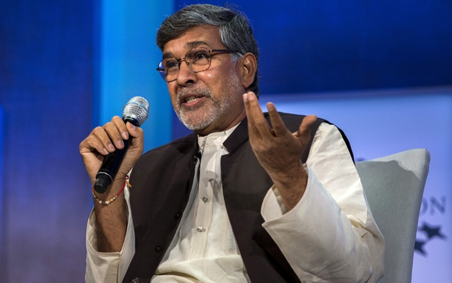 Kailash Satyarthi, 2014 Nobel Peace Prize Laureate, takes part in a panel in New York, September 27, 2015. REUTERS