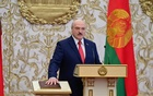 Alexander Lukashenko takes the oath of office as Belarusian President during a swearing-in ceremony in Minsk, Belarus September 23, 2020. Andrei Stasevich/BelTA/Handout via REUTERS