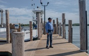 Cliff Clark, chief executive of South Ferry, near his home in Shelter Island, NY on Aug 25, 2020. On Shelter Island, private ferries are the only way to reach the mainland and with a greatly reduced tourist season, they might be out of business soon. (September Dawn Bottoms/The New York Times)