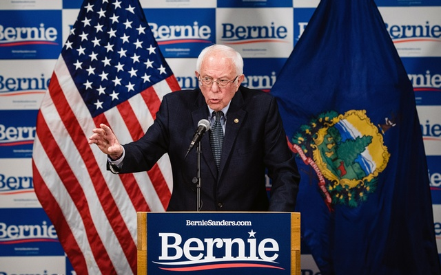 Sen Bernie Sanders, then a candidate for the Democratic presidential nomination, speaks to reporters in Burlington, Vt., on March 12, 2020. The New York Times