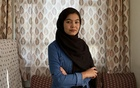 Shamsea Alizada, 18, in Kabul on Friday, Sept. 25, 2020. Alizada received the highest score in Afghanistan on the national university entrance exam. (Fatima Faizi/The New York Times)